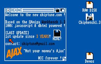 Interfaz de chiptune.com