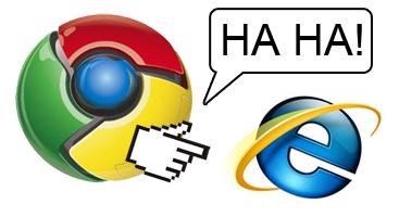 Chrome humillando a Explorer (Basado en hechos reales)